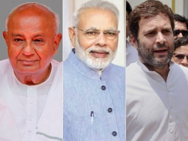 Modi, Rahul wish Deve Gowda on his birthday, Rahul also apologises