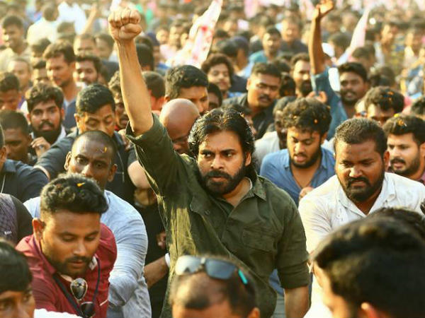 First Break for Pawan Kalyans porata yatra