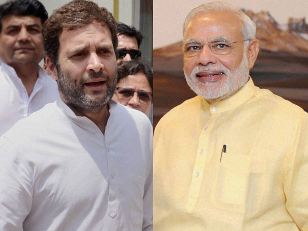 Narendra Modi and Rahul Gandhi on Karnataka polls