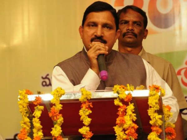 Sujana Chowdary takes on at Centre and BJP