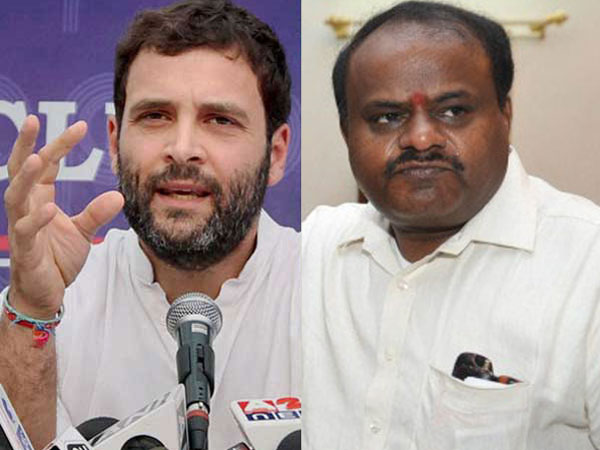 Rahul Gandhi had called CM Kumaraswamy and sugested him to control rebel MLAs of Congress.
