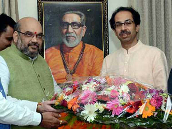 Shiv Sena mocks BJP, Amit Shah ahead of Uddhav Thackeray meet, says party is playing contact campaign ahead of 2019