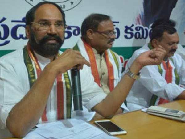 Why KCR asked Congress stand over Early elections: Uttam, Kuntia