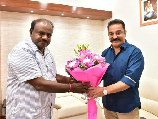 Kamal Haasan meets Kumaraswamy, says ready to bridge divide on Cauvery row
