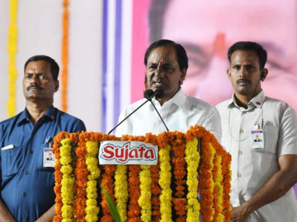 Kcr Lays Foundation Stone Gattu Irrigation Project Gadwal
