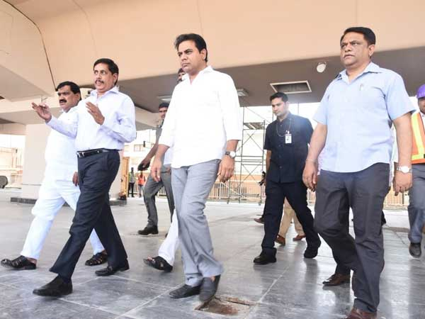 KTR inspects Hyderabad Metro Rail trail run from Ameerpet to LB Nagar