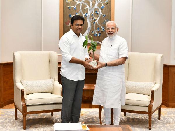 Telangana Minister Ktr Meets Pm Narendra Modi