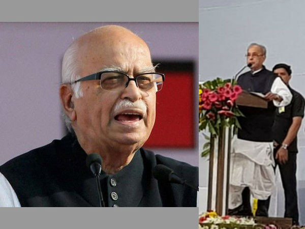 Advani lauds Mukherjee for attending RSS event, calls it significant event in history