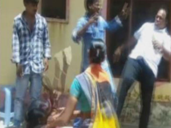 MPP Kicked Woman in Dharpally of Nizamabad