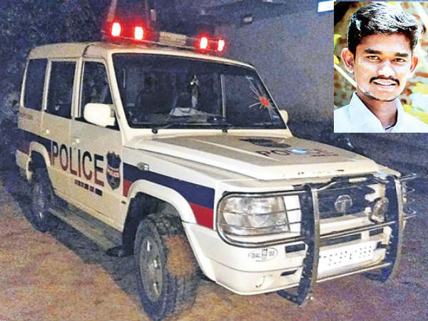 Police vehicle stolen in Hyderabad