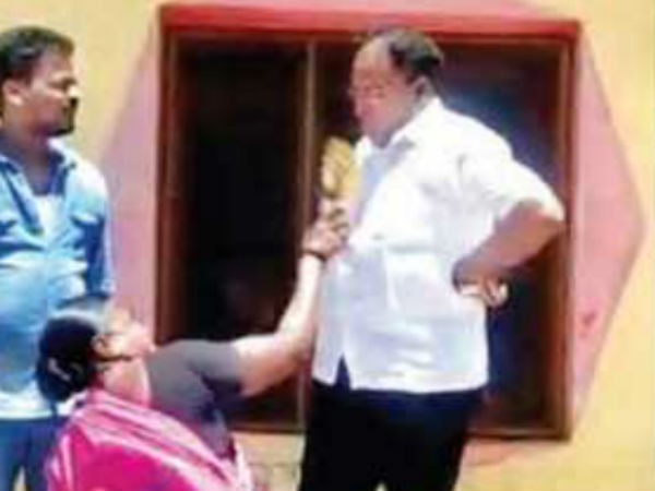 MPP arrested for kicking woman in Nizamabad district