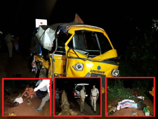 6 killed, 8 injured in East Godavari road accident, after Tipper lorry rams Auto