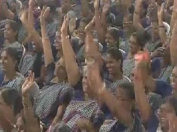 Anganwadi Women Who Gave Shock Cm Chandrababu