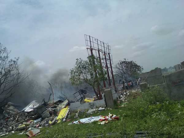 Massive Fire Breaks Out At Bhadrakali Fireworks In Warangal