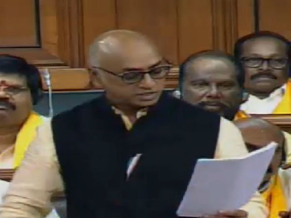 TRS Vs TDP in loksabha, as TRS takes objections TDP MP Galla Reddy remarks Telangana