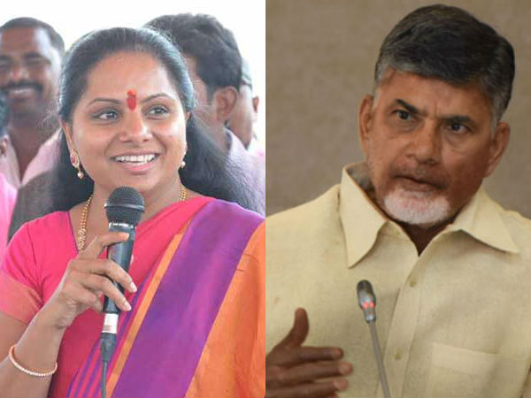 TRS MP Kavitha counter to Telugudesam over no confidence motion