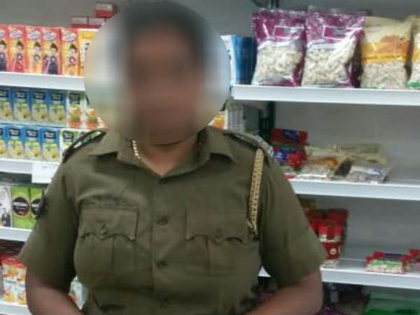 Woman cop suspended for stealing from supermarket