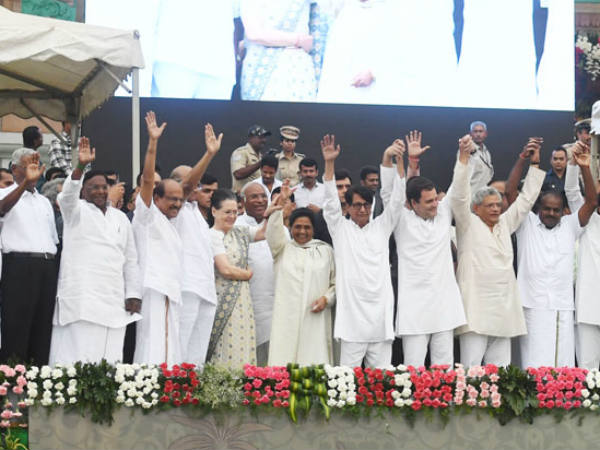 Mega political deal: Opposition unite to submerge BJP in 2019 elections