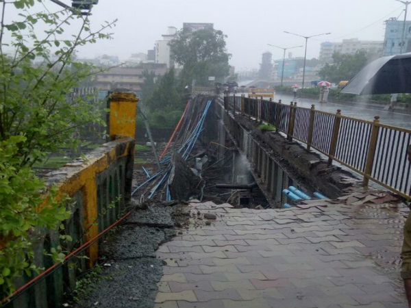 Mumbai Rains: 2 injured after foot overbridge collapses partially in Andheri west