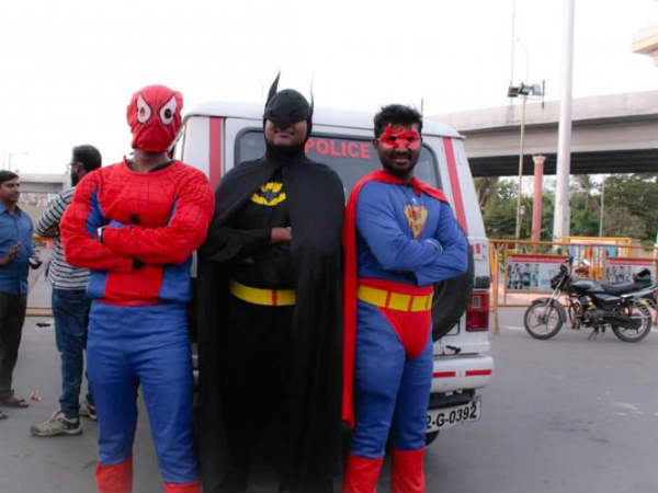 Superman appears on the busy chennai road..here is why..!