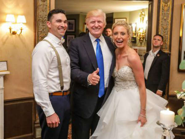 Donald Trump Makes Surprise Entry At Wedding New Jersey