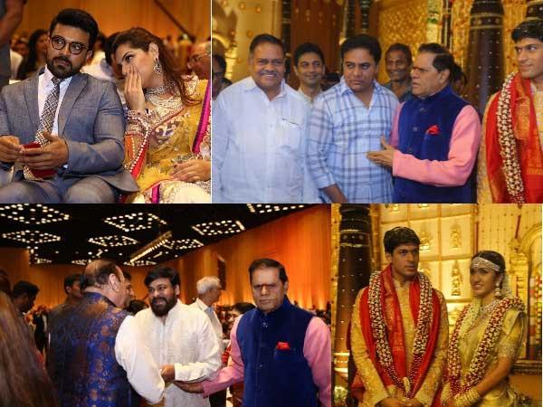Political Leaders Film Personalities T Subbarami Reddy S Grandson Wedding