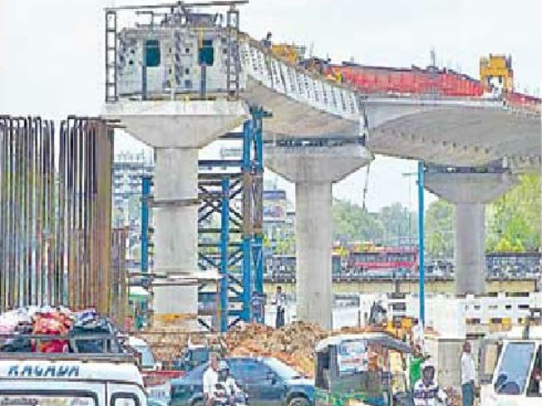 Finally...Kankadurga fly-over pillers design approved by AP Government