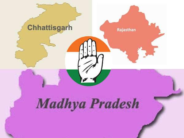 ఏబీపీ సీఓటర్ సర్వే: మధ్యప్రదేశ్, రాజస్థాన్, ఛత్తీస్గఢ్లలో కాంగ్రెస్దే అధికారం
