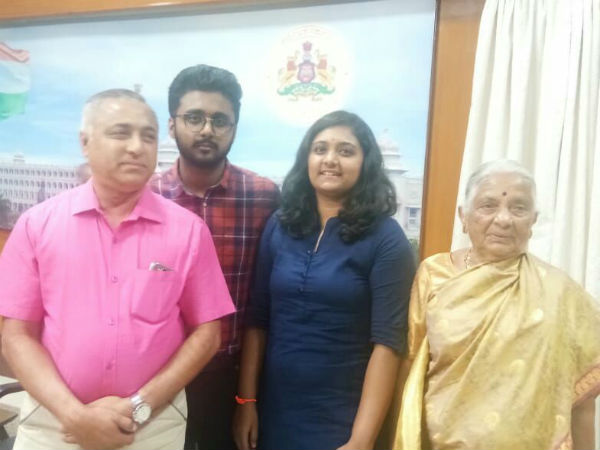 Bengaluru based family contributed 1 lakh to CM relief fund for Kodagu floods