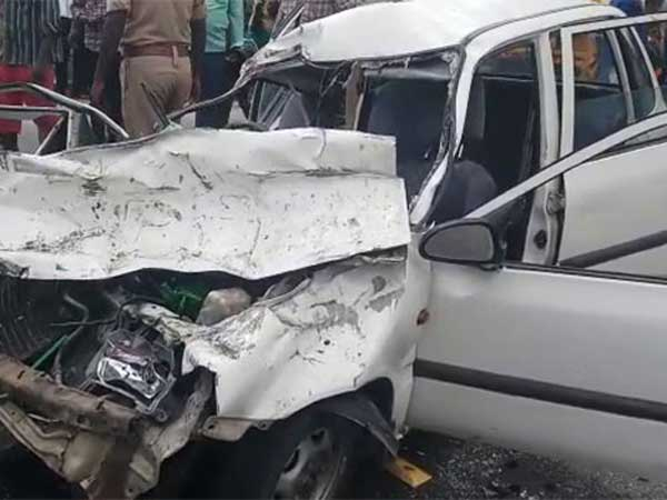 Five of a family killed in a car accident in Chittoor district