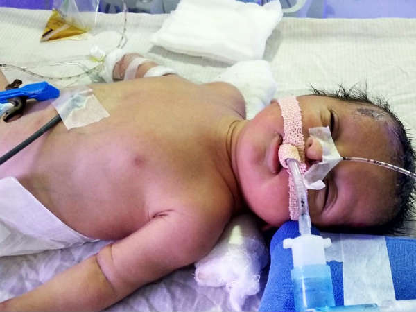 Help baby of Lakshmi, who is unhelathy. Help Lakshmi to save her newborn.