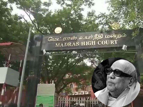 Karunanidhi passes away, Hearing on burial site under way in Madras HC