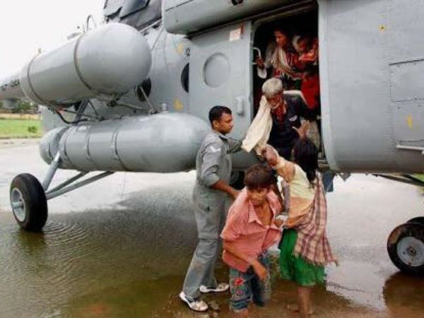 IAF choppers rescue 19 stranded on island in Arunachal Pradesh's swelling Siang