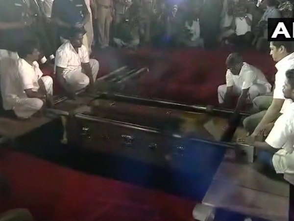 Why burial not cremation for Karunanidhi