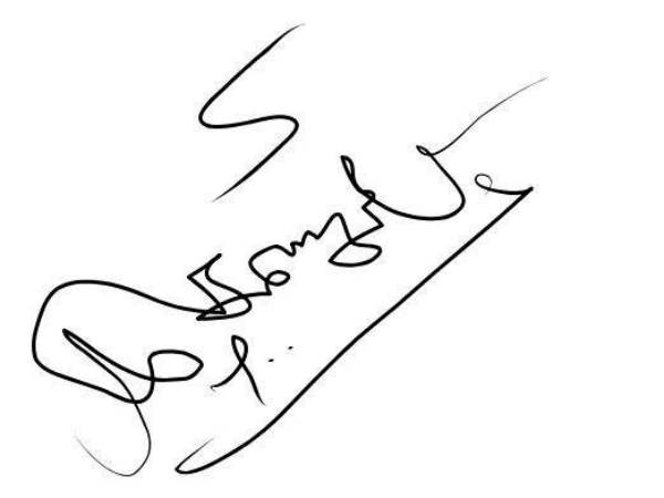 Hidden secret in Karunanidhi signature