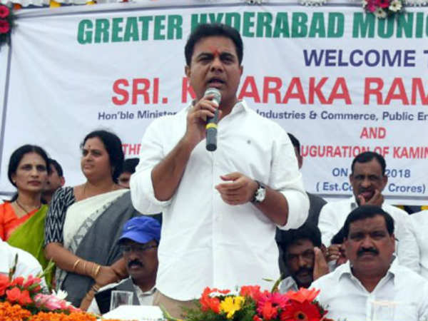 ktr inaugurates kamineni junction flyover at lb nagar in hyderabad