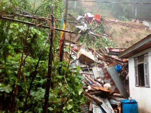 Mother and son washed away in landslide along with their house near Madikeri in Karnataka