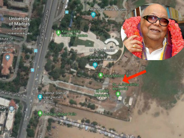 Access to Anna Samadhi Cut Off as Work Begins to Ready Kalaignars Resting Place