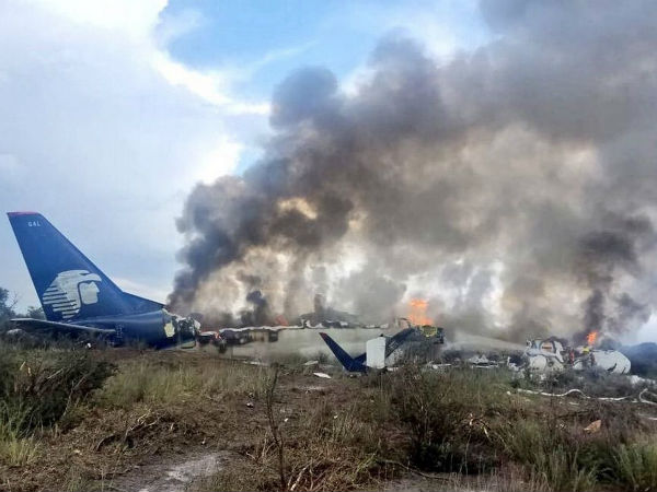 Aeromexico plane crash: Aircraft carrying 101 people involved in accident after takeoff near Durango in Mexico
