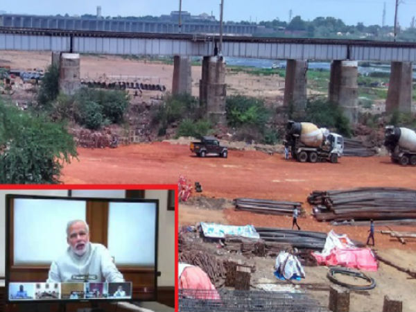 PM Modi enquired progress of Vijayawada-Gudur third railway line works progress