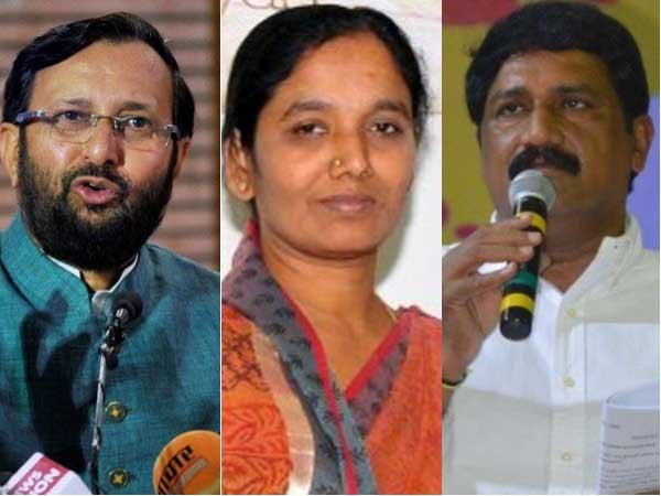 Ganta and Sunitha question over Poll promices, Javadekar counter without politics