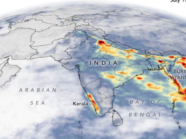 Not only Kerala,satellite images show abnormal rains in southeast Asia too..!