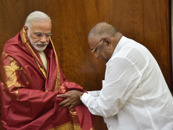 TDP MP Rayapati meets PM Narendra Modi