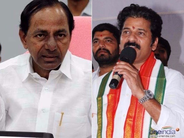 Revanth reddy and shabbir ali takes on at KCR