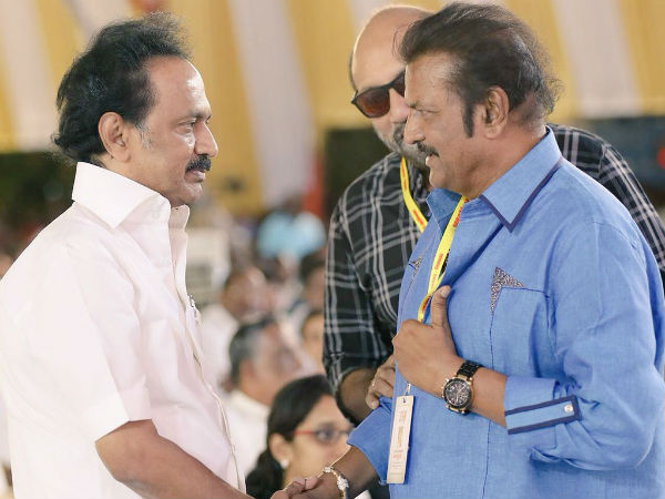 I hope to see you as the Chief Minister, Mohan babu on MK Stalin
