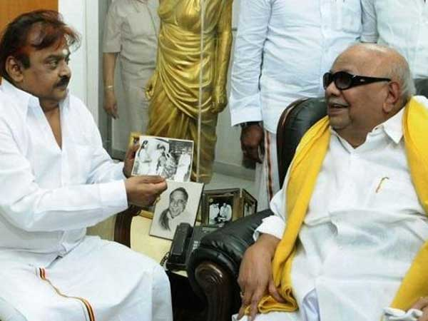 Vijayakanth Cries for Kalaignar Karunanidhi