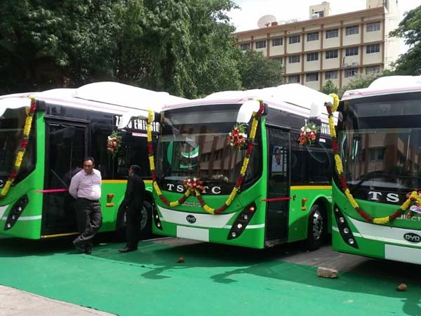 5 electric buses to hit Hyderabad roads