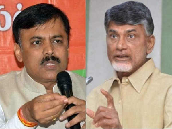 BJP MP GVL once again fire over CM Chandra babu and TDP Government