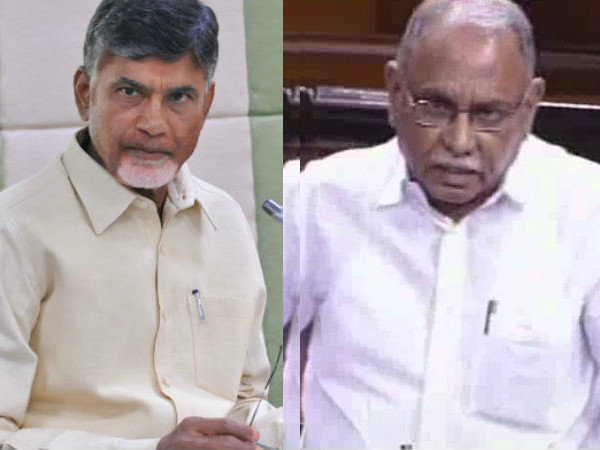 KVP Ramachandra Rao letter to AP CM Chandrababu over special status issue