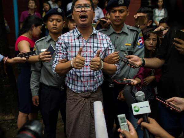 Two reuters journalists arrested in Myanmar of breaching a law on state secrets